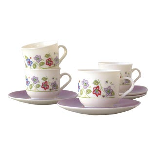 Demitasse Cups and Saucer