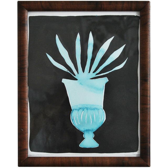 Kate Roebuck Agave Urn Framed Painting - Image 2 of 2