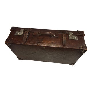 Vintage Textured Leather Suitcase