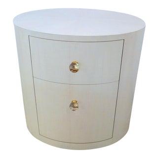 Italian-Inspired 1970S Style Oval Nightstand