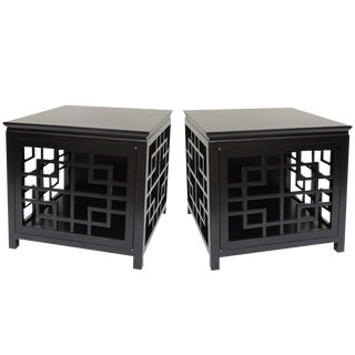 Open Graphic Modern End Tables/Side Tables/Nightstands