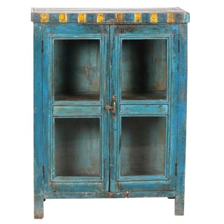 Blue & Yellow Display Cabinet