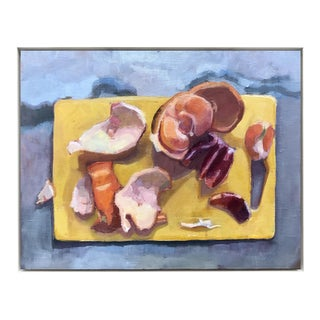 """Cutting Board II"" Original Citrus Fruit Oil Painting"
