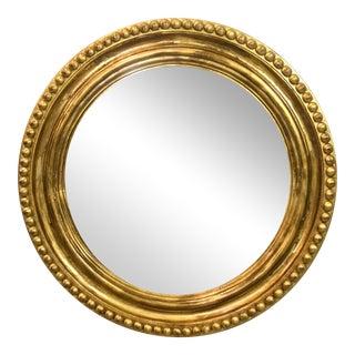 Gilt Wood FederalStyle Round Mirror