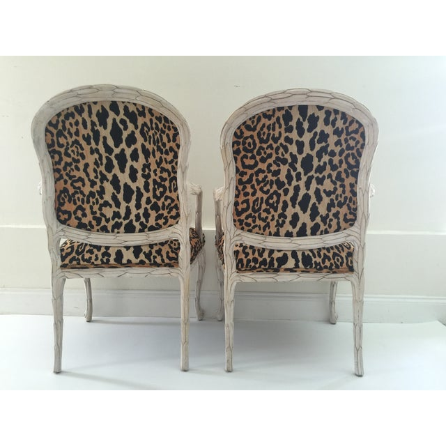 Italian Leopard Chairs - Pair - Image 5 of 6