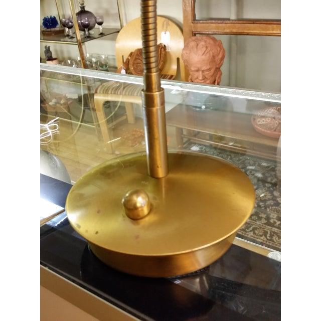 Levenger Brass Gooseneck Reading Lamp - Image 3 of 7