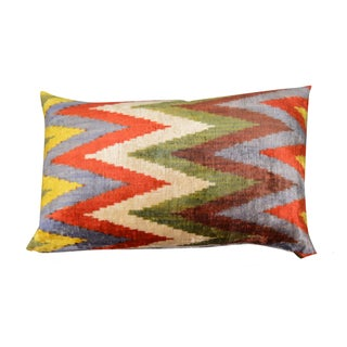 Double-Sided Chevron Patterned Pillow