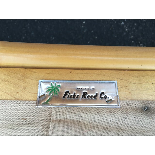 Vintage Ficks Reed Co. Vintage Rattan Sofa - Image 6 of 11