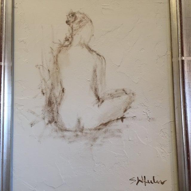 Stephanie Wheeler Framed Nude Figure Painting - Image 3 of 4