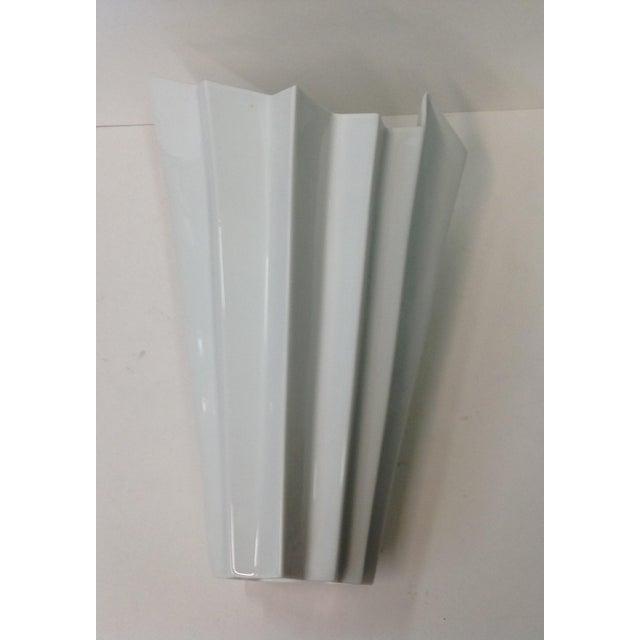 Hutschenreuther White Op Art Vase - Image 6 of 7