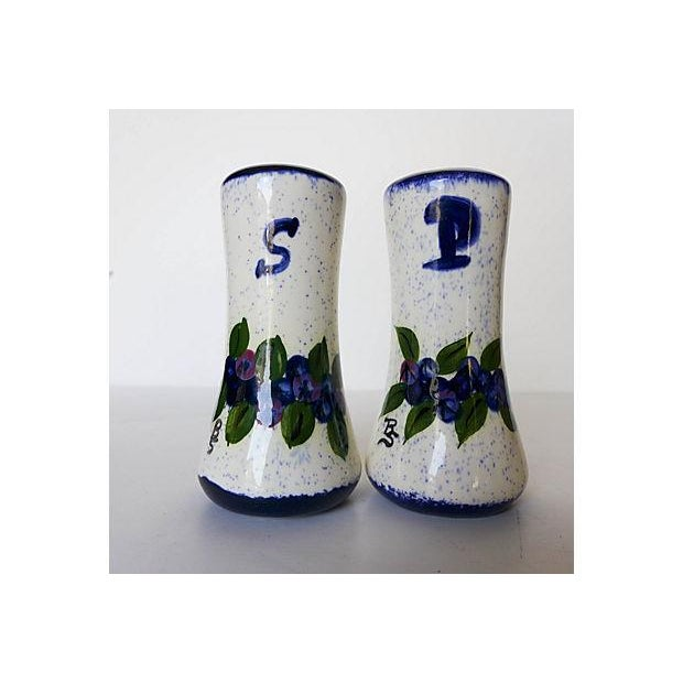 Maine Potters Blueberry Salt & Pepper Shakers - A Pair - Image 2 of 6