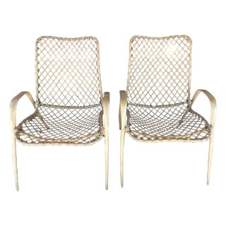 Pair of Translucent Fiberglass Chairs, circa 1950s