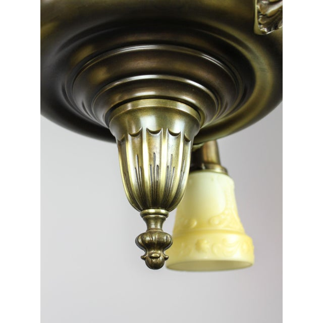 Antique Sheffield Light Fixture (3-Light) - Image 7 of 10