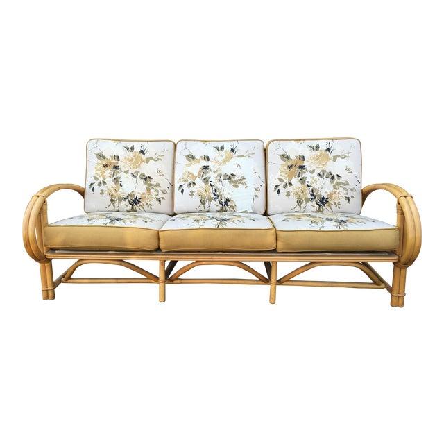 Vintage Ficks Reed Co. Vintage Rattan Sofa - Image 1 of 11