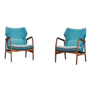 Aksel Bender Madsen Bovenkamp Lounge Chairs Pair 1960