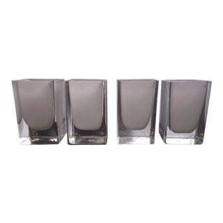 Glass Candle Holders - Set of 4