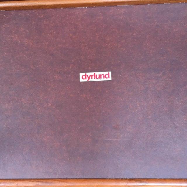 Image of Dyrlund Mid-Century Modern Danish Teak Bar Cart