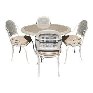 Lacquered Metal Outdoor Dining Set