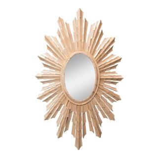 Italian Bone Sunburst Mirror w/ Convex Glass