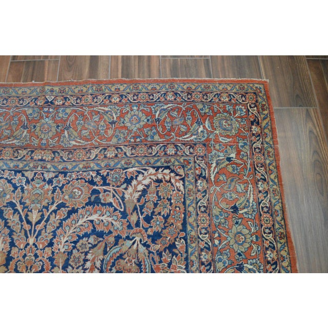 "Vintage Persian Sarouk Rug - 6'11"" X 10'11"" - Image 8 of 11"