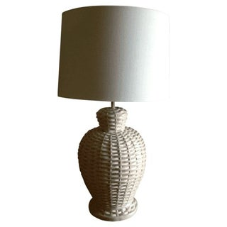 Basket Weave Pale Pink Lamp