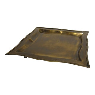 Square Antique Brass Tray