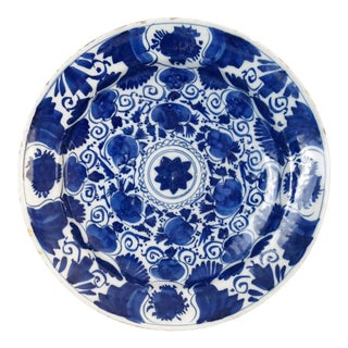 Antique Delft Chinoiserie Charger