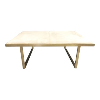 Kelly Genuine Champagne Cowhide Coffee Table