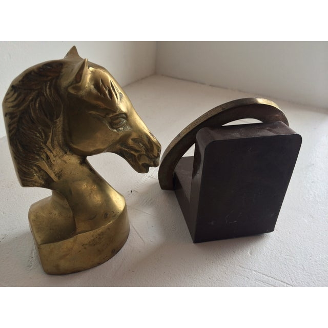 Equestrian Horseshoe Brass Bookends - 2 - Image 6 of 6
