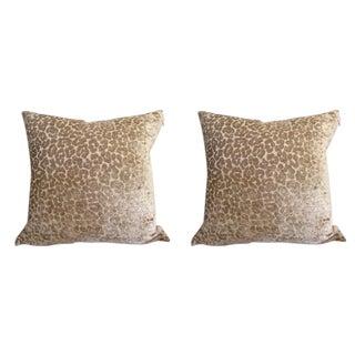 Timothy Corrigan for Schumacher Animal Print Pillows - a Pair