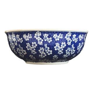 Chinese Lg Centerpiece Plum Blossom Bowl