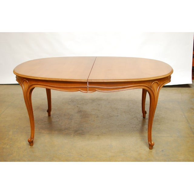 Drexel Vintage French Provincial Dining Table   Image 2 of 6. Drexel Vintage French Provincial Dining Table   Chairish