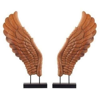 Wooden Décor Wings I, Pair