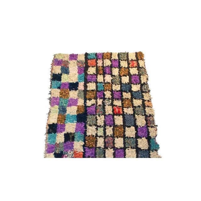 "Vintage Boucherouite Moroccan Carpet - 6' X 4'8"" - Image 1 of 3"