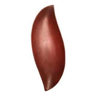 Mid-Century Biomorphic Wooden Bowl