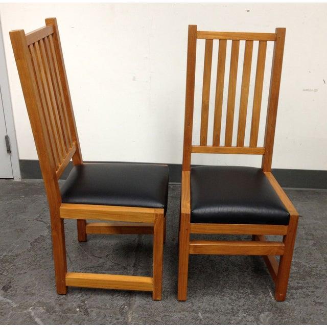 Custom Designed Teak Chairs - A Pair - Image 6 of 7