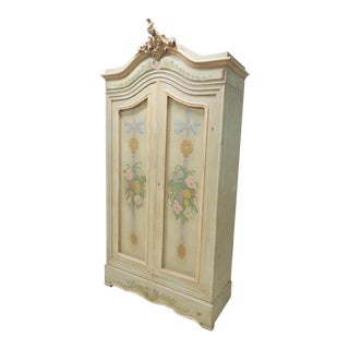 French Carved & Paint Decorated Armoire