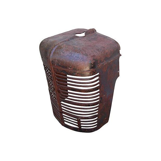 Image of Antique Industrial Farm Tractor Grill Art Piece