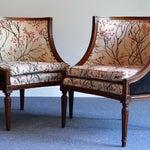 Image of Louis XVI Barrel Chair - A Pair