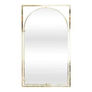 BRASS ARC MIRROR BY JOHN WIDDICOMB FOR JOHN STUART