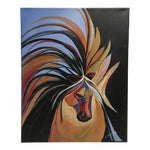 Image of Abstract Horse Acrylic Painting