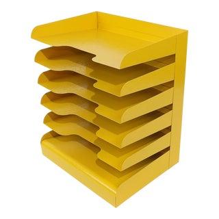Yellow Office Desk Mail Sorter / Organizer