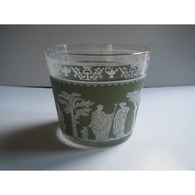 Vintage Jeanette Wedgwood Green Bar Ice Bucket - Image 2 of 5