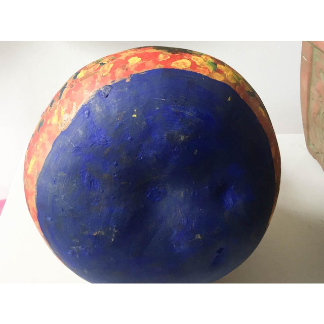 Image of Mid Century Listed Artist Rodolfo Morales - Painted Gourd