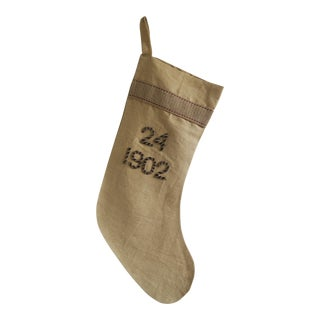 "Metallic Numeric Stocking with Silk Back- ""1902"""