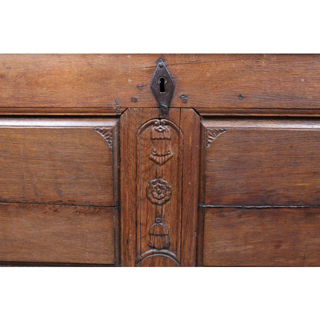 Image of 19th C Floral Motif French Trunk
