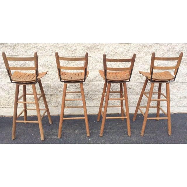 Arthur Umanoff Type Mid-Century Modern Bar Stools - Set of 4 - Image 3 of 6