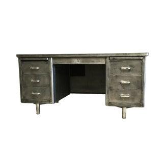 Vintage Industrial Metal Brushed Desk