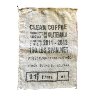 Burlap Coffee Bag Wall Hanging