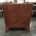 Image of Leathercraft Burnt Orange Leather Accent Chair
